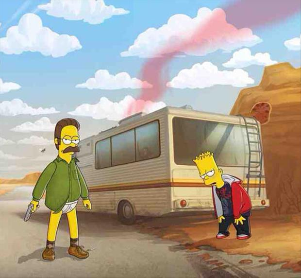 funny breaking bad the simpsons