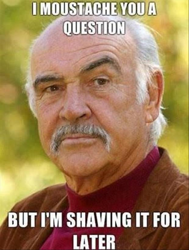 Sean Connery I Moustache You a Question
