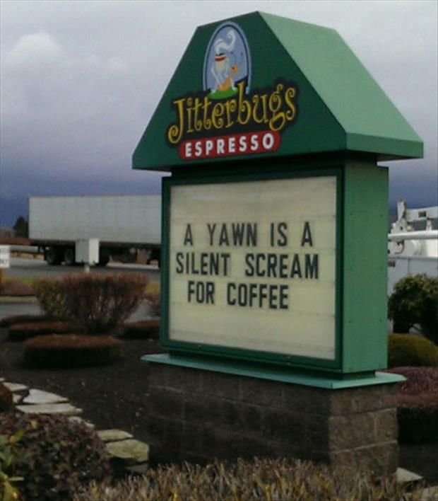 funny coffee shop signs