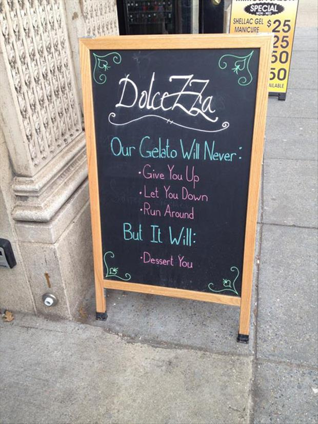 funny food signs