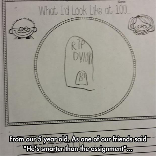 funny kid assignments