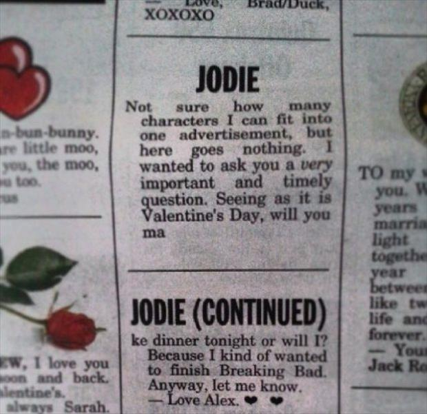 funny newspaper personal section