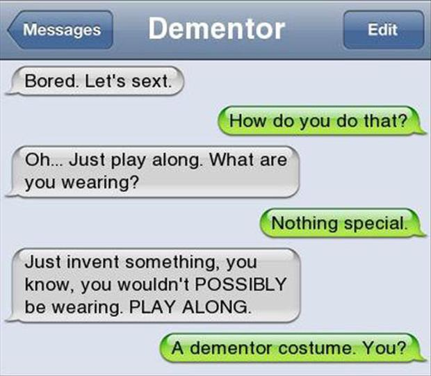 Funny text message sexting