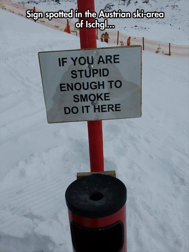 funny smoking signs