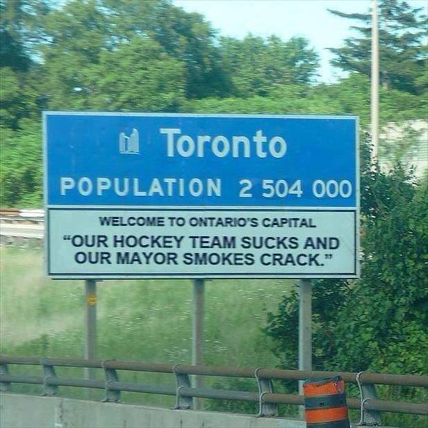 funny toronto signs