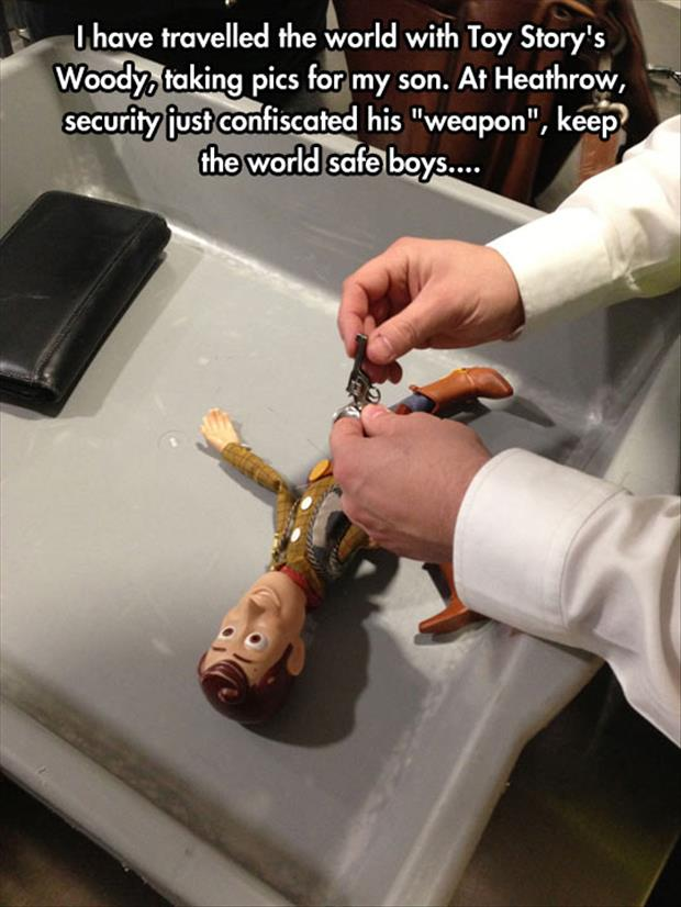funny toy story woody at the airport