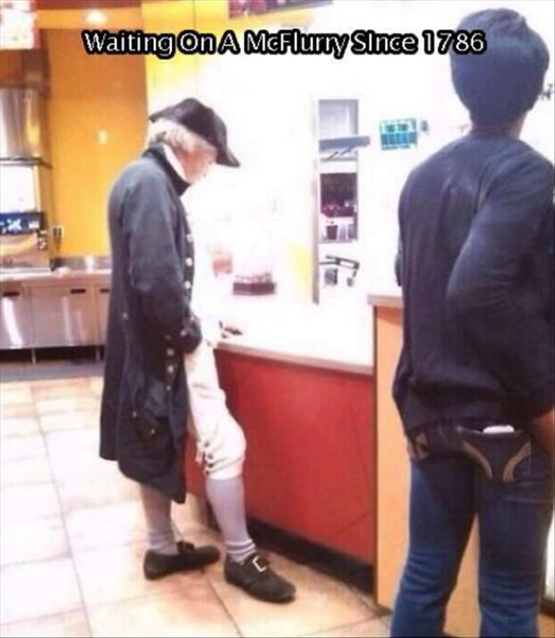 george washington at McDonalds