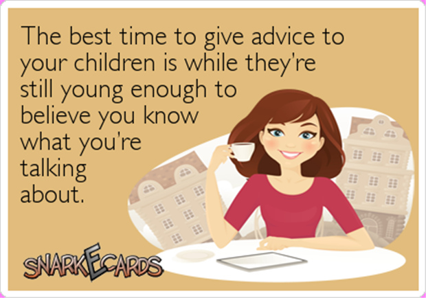 give advice to kids