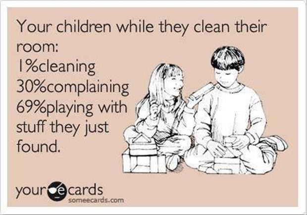how kids clean their rooms