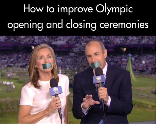 how to improve the olympic cerimonies