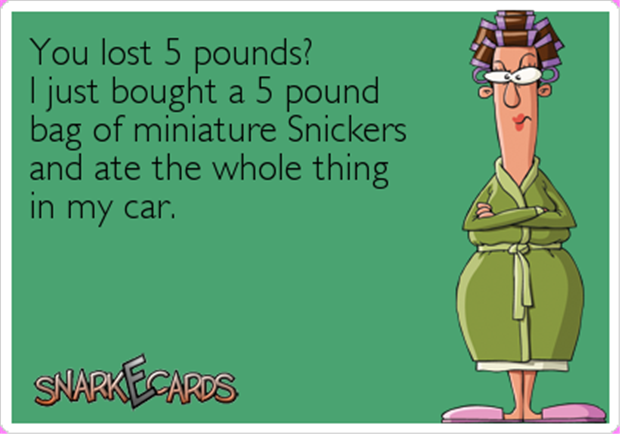 lost five pounds