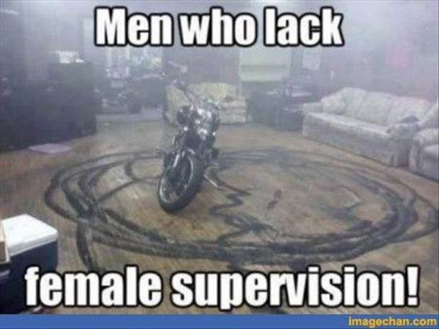 men who lack femail supervision