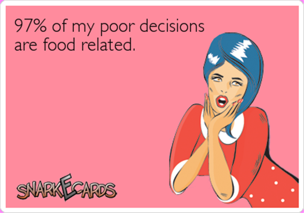 most of my problems are food related