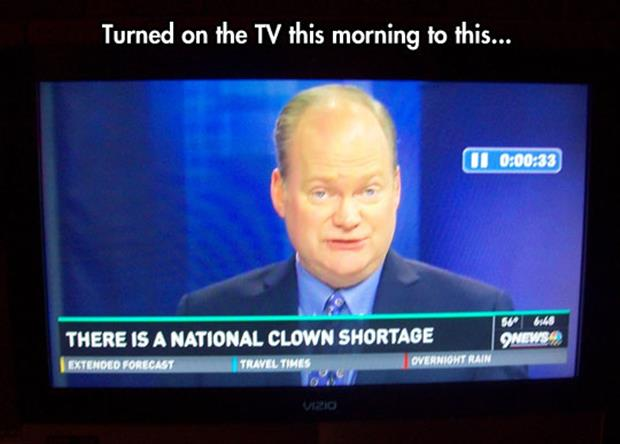 national clown shortage