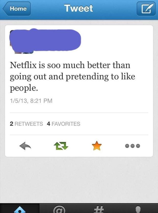 netflix is better than people