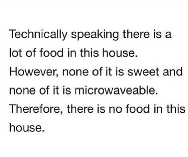 no food in the house funny