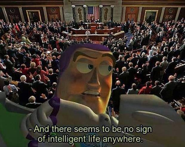 no sign of intelligent life anywhere