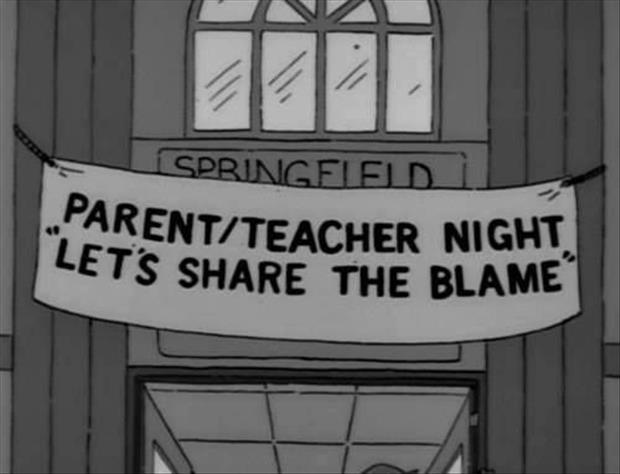 parent teacher night funny