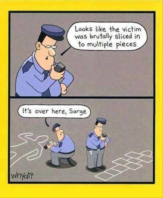 police chalk lines funny