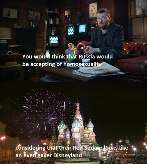 russia doesn't accept gay people