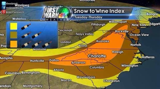 snow to wine index
