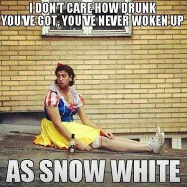 snow white got drunk