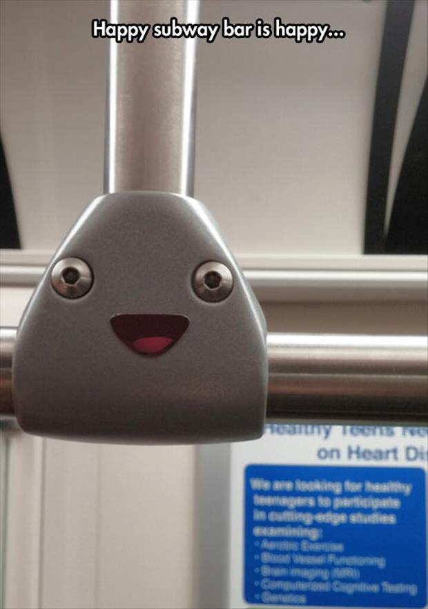 subway bar is happy