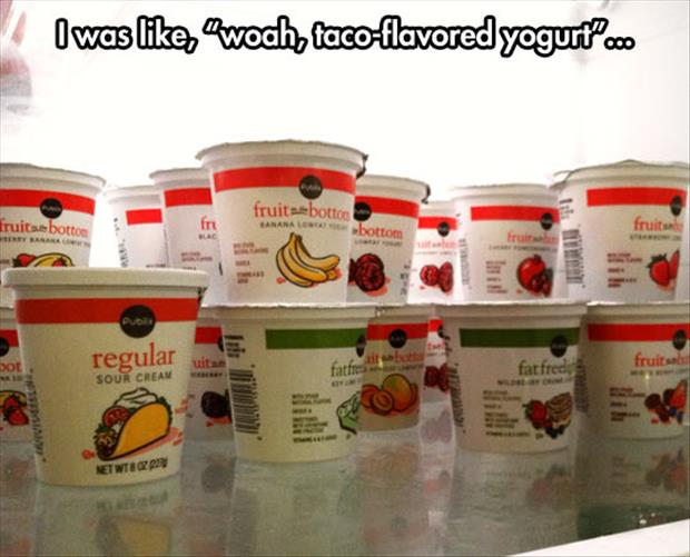 taco flavored yogurt