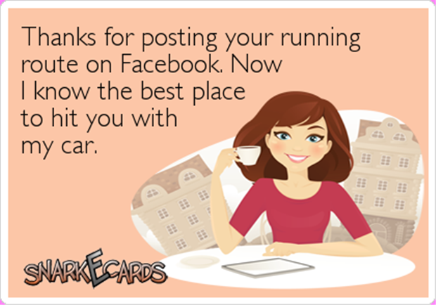 the running route on facebook