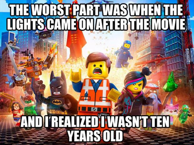 the worst part of the lego movie