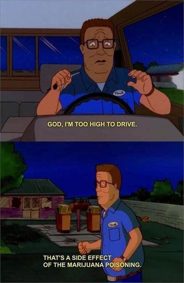 to high to drive