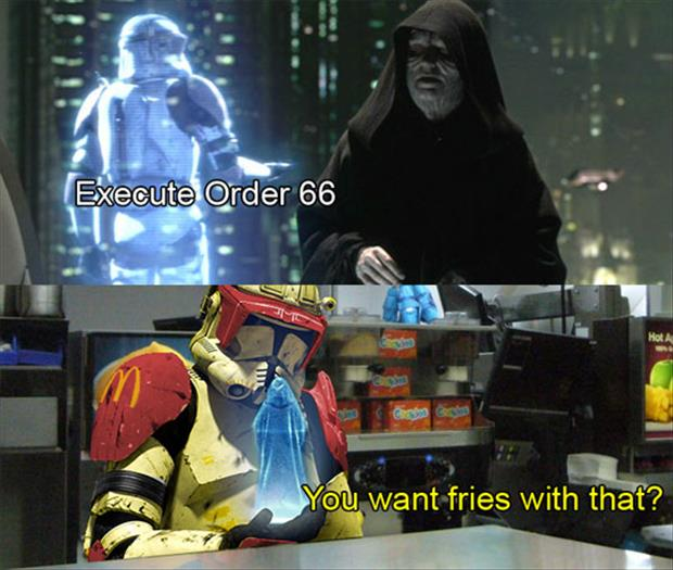 you want fries with that