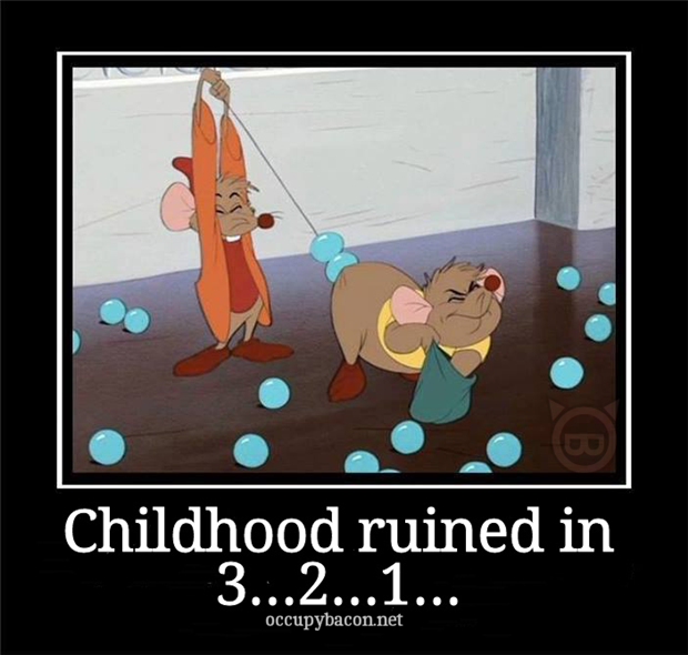 your childhood is ruined disney movies