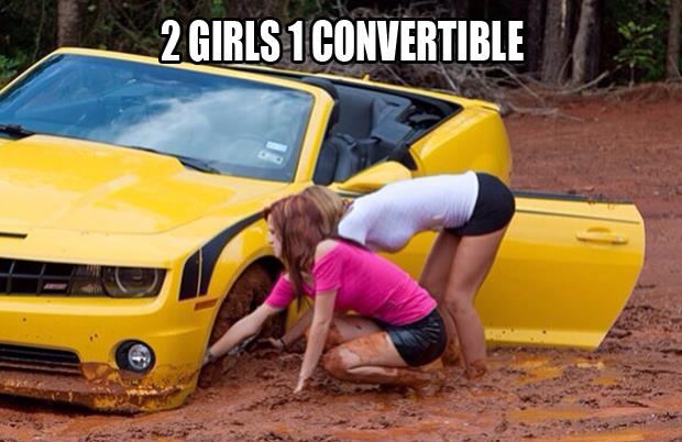 2 girls 1 convertible