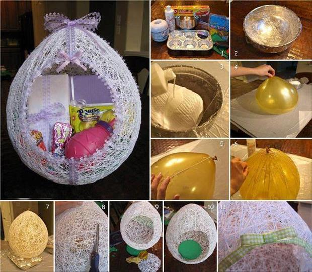 DIY Easter Egg nest 2