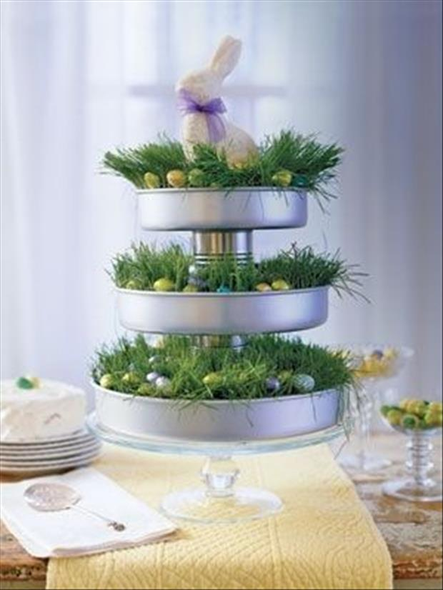 Easter table center piece