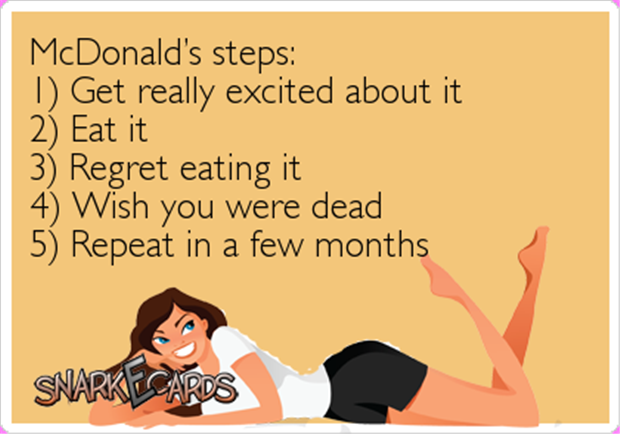 Eating at McDonalds