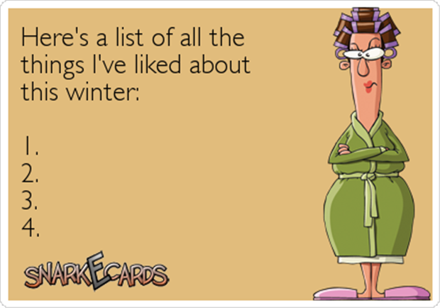 a list of things I love about winter