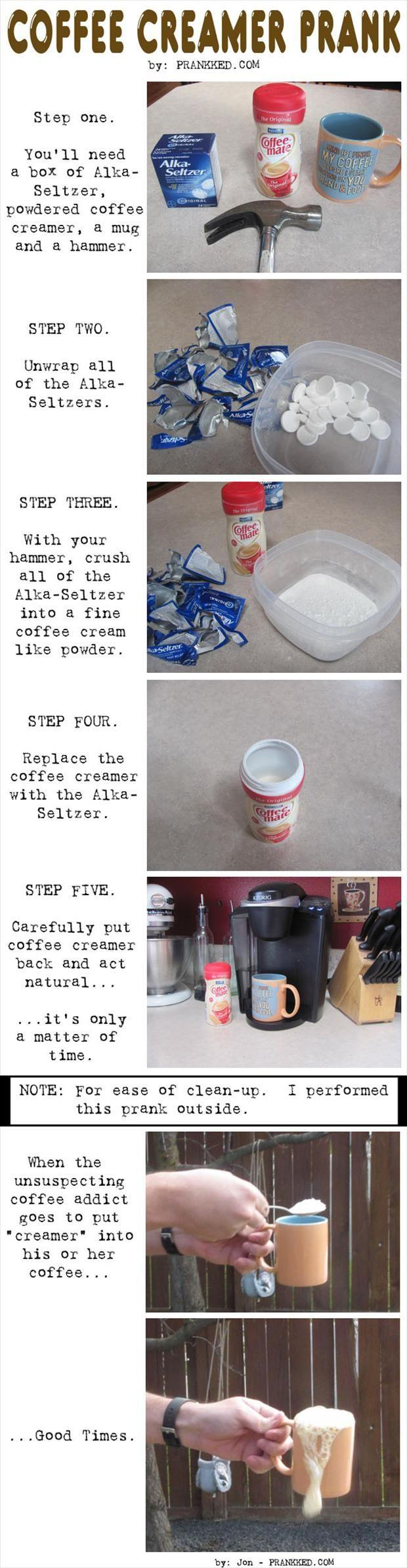 april fools coffee prank