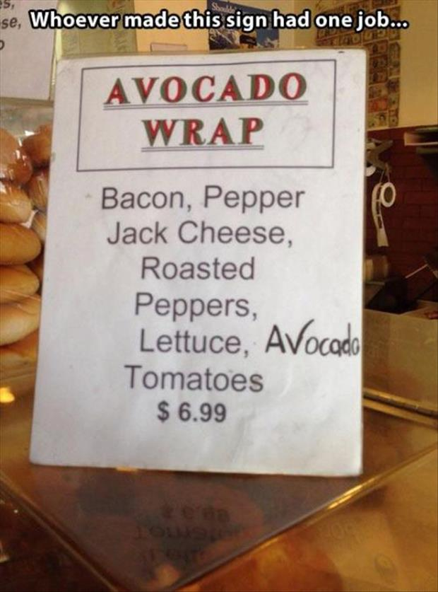 avocado wrap funny