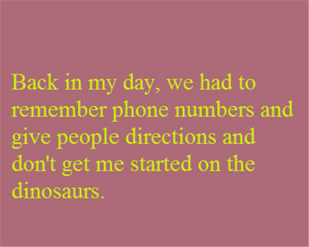 back in the day funny quotes