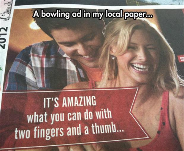 bowling ad funny newspaper