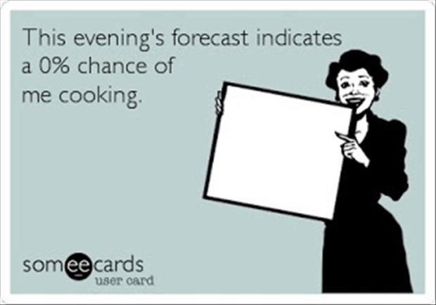 chance of me cooking