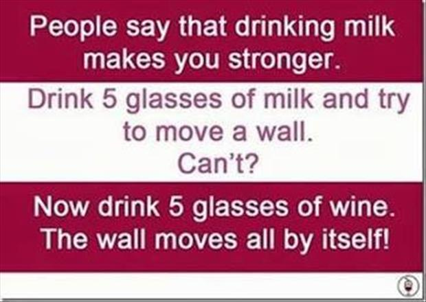 drinking milk vs drinking wine