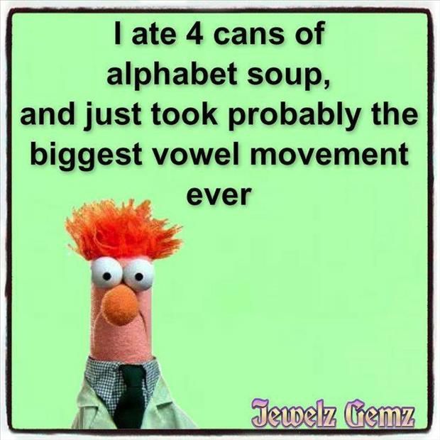 eating alphabet soup