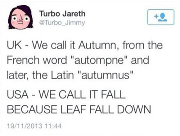 fall in the united states