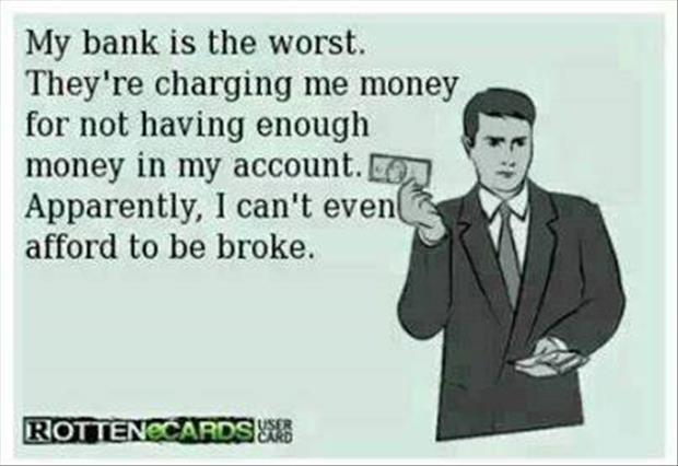 funny bank fees
