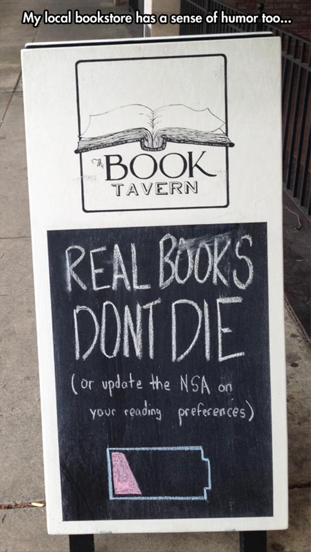 funny book store signs