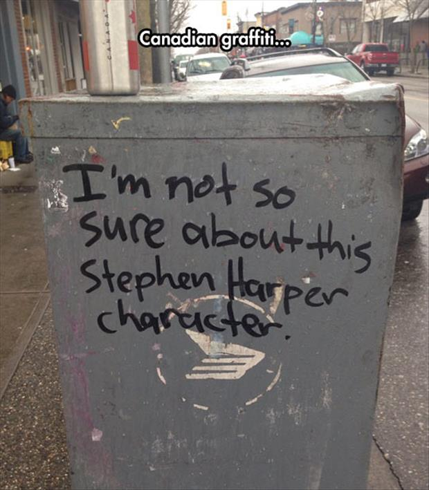 funny canadian graffiti