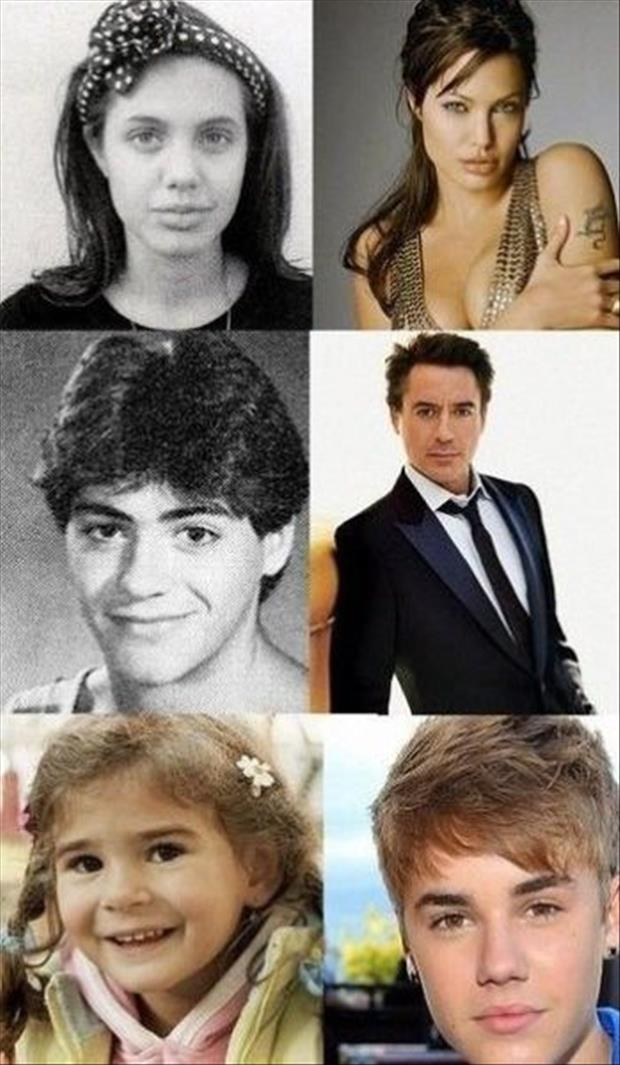 funny celebrities when they were young
